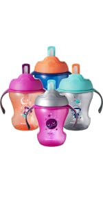 soft straw cup handles training weaning transition space stars astronaut unisex baby bottle infant