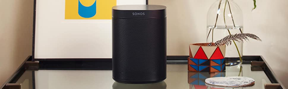 sonos one enceinte sans fil multiroom wifi avec le service vocal amazon alexa int gr blanc. Black Bedroom Furniture Sets. Home Design Ideas