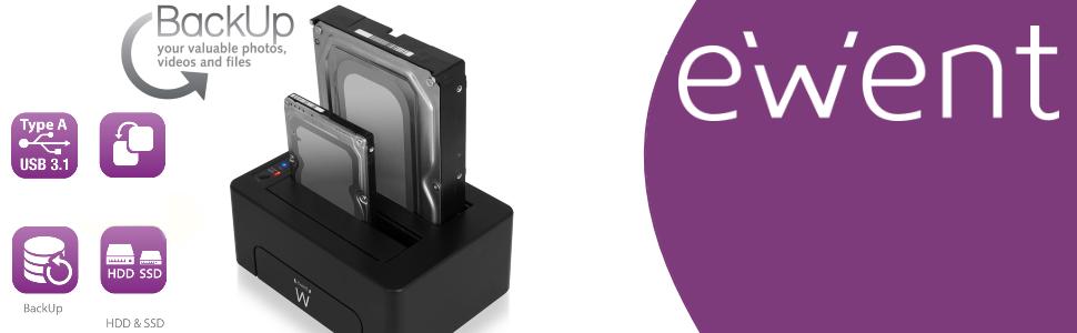Ewent EW7014 Negro estacion Base para HDD/ssd: Ewent: Amazon.es ...