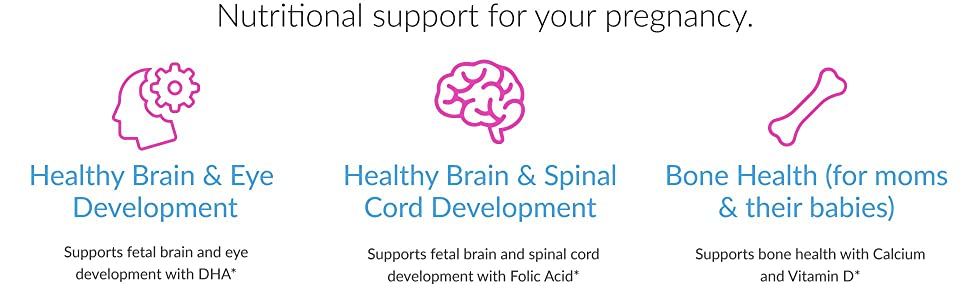 healthy; brain; spine; development; develop; fetal; cord; dha; bone; bones; vitamin d; folic acid;