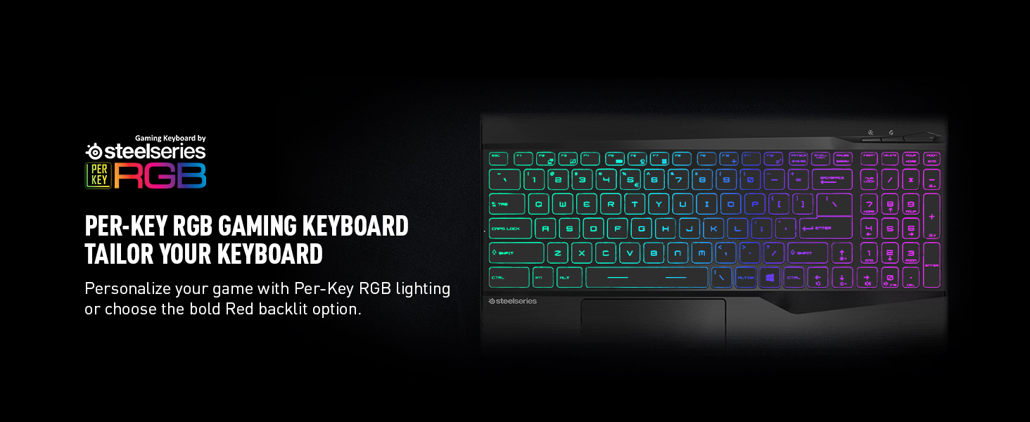 steelseries RGB keyboard