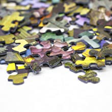 close up of puzzle piece, Springbok jigsaw puzzles, organic and non-toxic inks, recycled materials