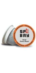 sf bay coffee, SanFrancisco bay coffee, coffee k cups, single serve pods