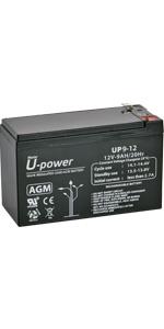 Bateria Plomo AGM 9Ah 12V