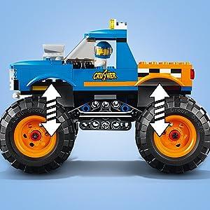 Monter truck, bambini, costruzioni