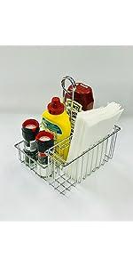 4-21699, Chrome, Four Compartment, Condiment Caddy, Clipper Mill