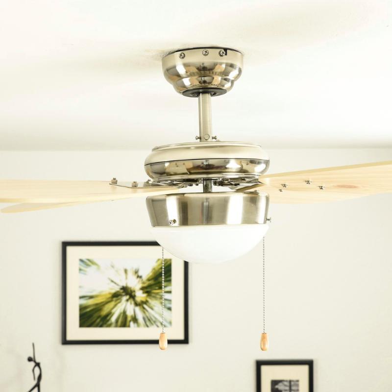 aireryder deckenventilator mit beleuchtung classic geh use wei fl gelfarbe pinie 105 cm. Black Bedroom Furniture Sets. Home Design Ideas