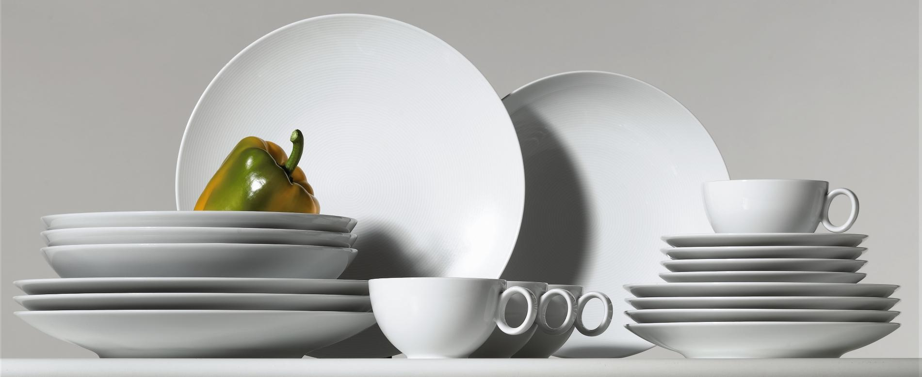 Thomas Loft Weiss 18tlg Tee Service Tee Set Tasse Kuchenteller NEU 1.Wahl