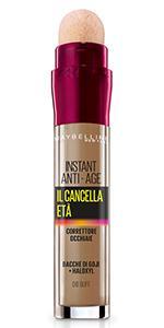 Il Cancella Età, Instant Eraser, Correttore, Occhiaie, Spugnetta,naturale, leggero, colore, buff