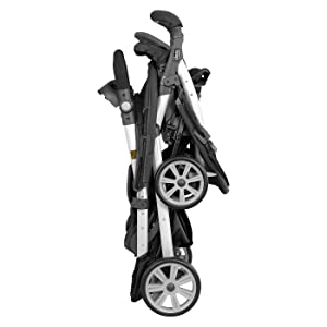 double, stroller, fold, standing. compact, travel, storage, easy,