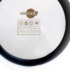 WeCook 10070 Sarten Antiadherente Induccion Vitrocerámica y Fogón, Aluminio, 30 cm, Sin PFOA ni BPA