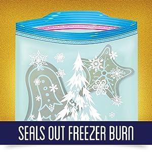 Seals out freezer burn