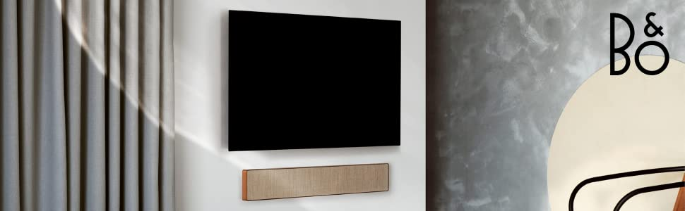 Beosound Stage soundbar and TV wall setup