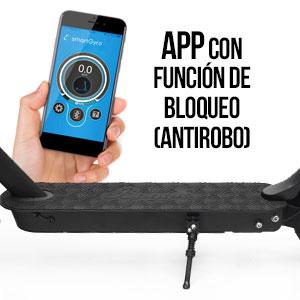SmartGyro Xtreme Baggio 10 Black - Patinete Eléctrico, APP, Ruedas 10