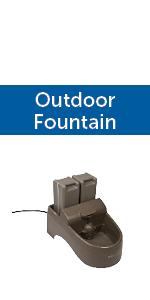 Outdoor dog cat pet fountain large capacity