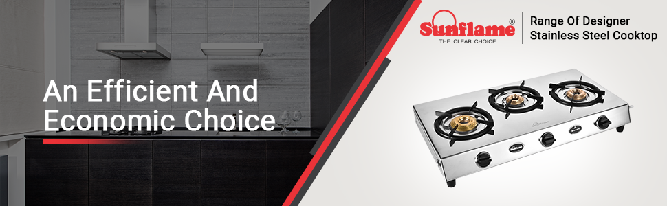 Sunflame stainless steel cooktop