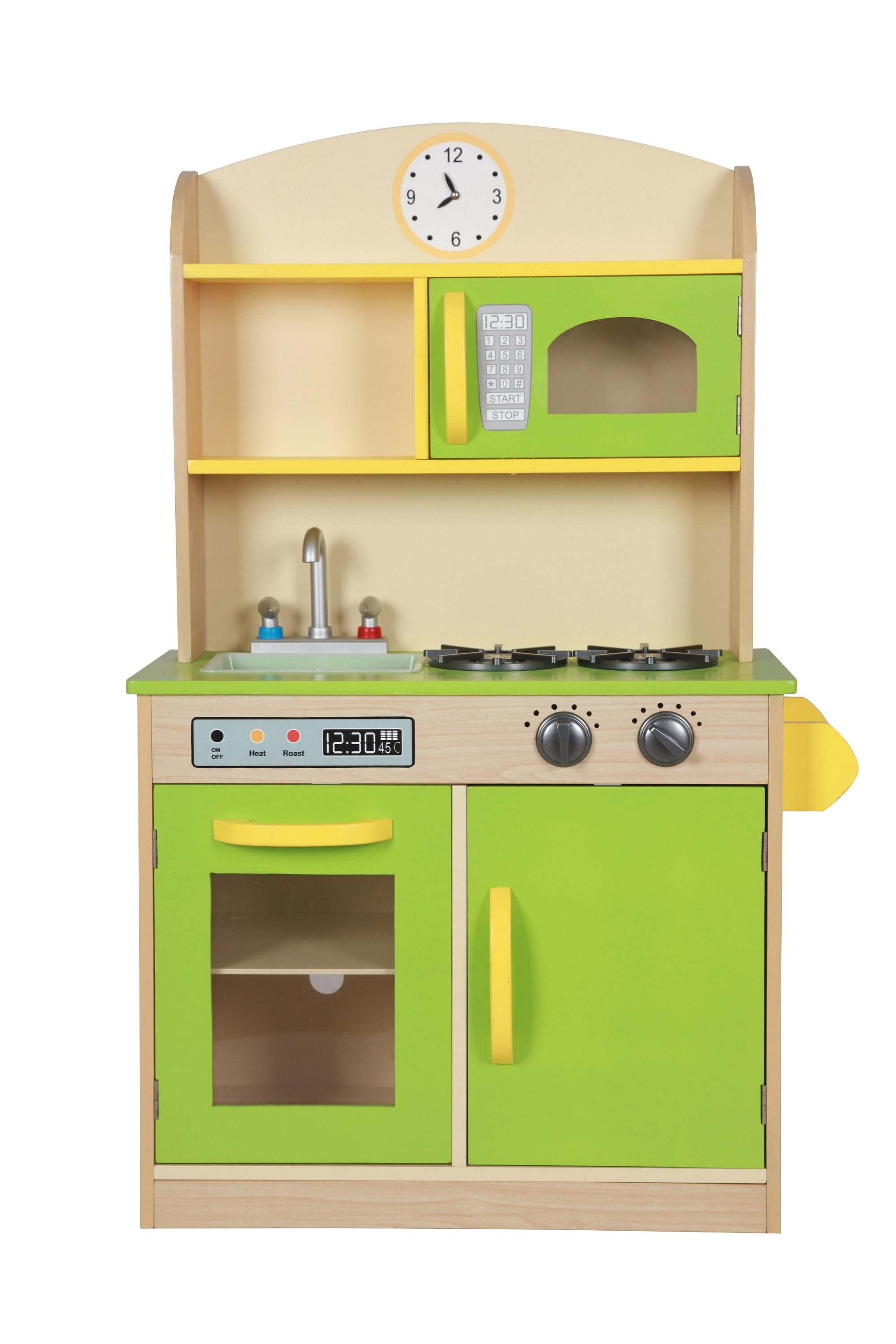 Teamson Kids Wooden Deluxe Play Kitchen Green Pretend Play Baby