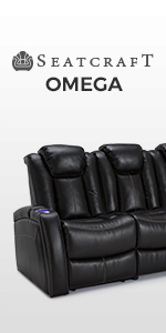 Amazon.com: Seatcraft Omega Leather Gel Home Theater Seating ...