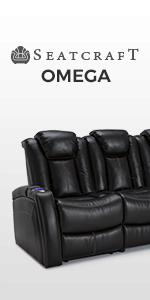 Amazon.com: Seatcraft Omega - Sofá reclinable de piel con ...
