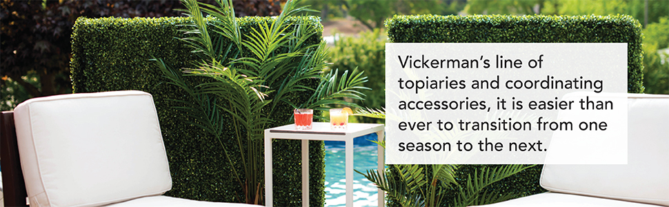 Topiaries and coordinating accessories that last throughout the seasons.