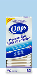 Q-tips Cotton Swabs Precision Tips are ideal for precise application and accurate touch-ups.