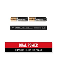 dual power technology usb rechargeable batteries or alkaline