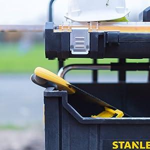 Stanley Mallette à outils professionnelle pour ranger les outils Noir/jaune