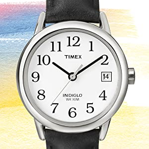 Timex, Easy reader, women's, black strap,
