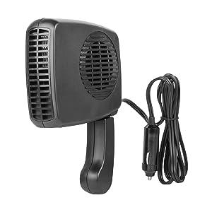 wagan, car heater, windshield heater, windshield defroster, 12v heater, plug heater, 12v fan