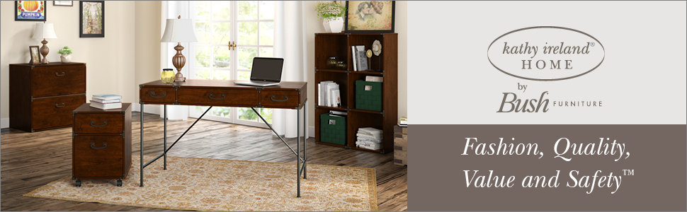 Furniture Kathy Ireland Office Ironworks 2 Drawer Mobile File