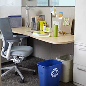 85c99ea4d2fc Rubbermaid Commercial Products Waste-Basket Trash Garbage Recycling Bin  Cans Desk-side office