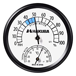 ハクバ 温度計付き湿度計 C-43