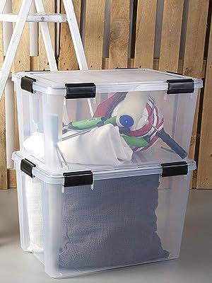 Lot de 2 boîtes de rangement Air Tight Box transparentes