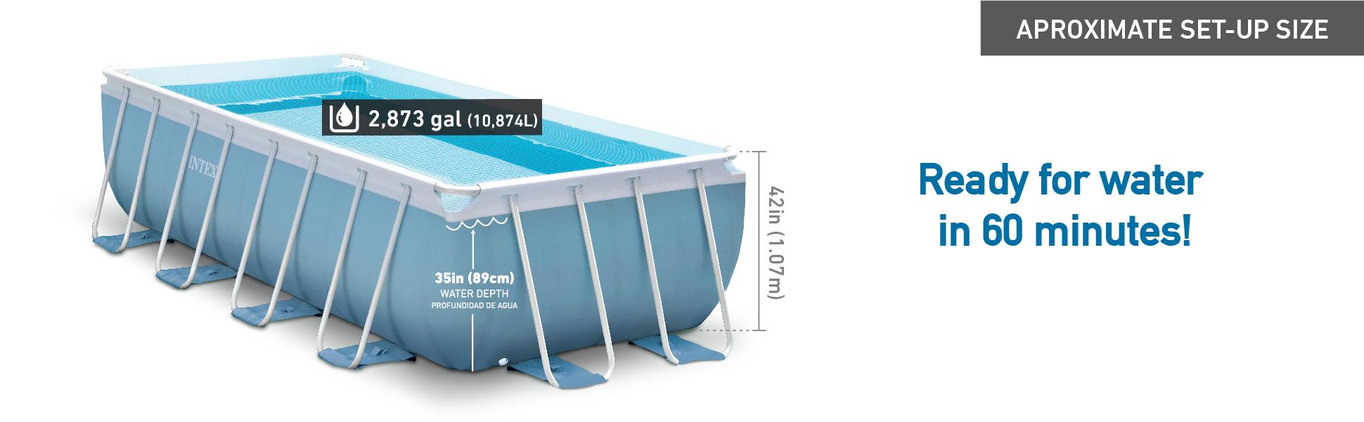 Amazon Com Intex 16ft X 8ft X 42in Prism Frame