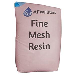 Fine mesh resin
