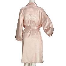 Blush Satin Bride Robe