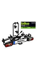 EUFAB Fahrradträger Crow Plus 2 Fahrräder KFZ Heckträger Anhängerkupplung AHK