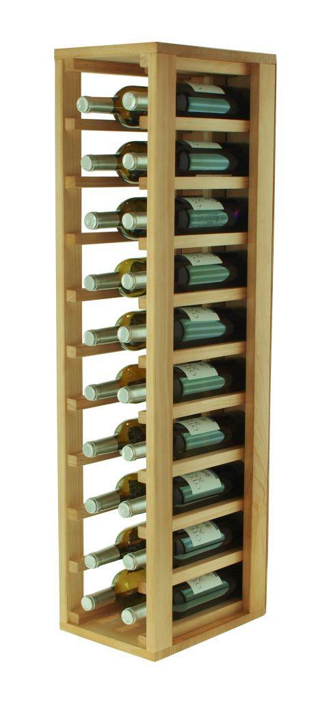 Expovinalia botellero madera roble 24x32x105 cm amazon - Botellero de madera para vino ...