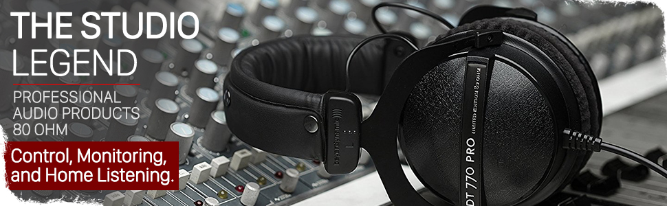 beyerdynamic dt 770 pro professional studio headphones over-ear on-ear mixing recording monitor home