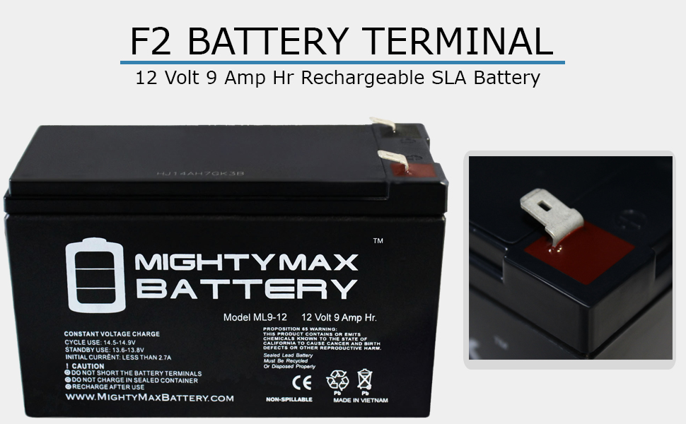 Mighty Max Battery ML9-12 2 Pack Brand Product 12V 9AH Computer Back Up Power Battery