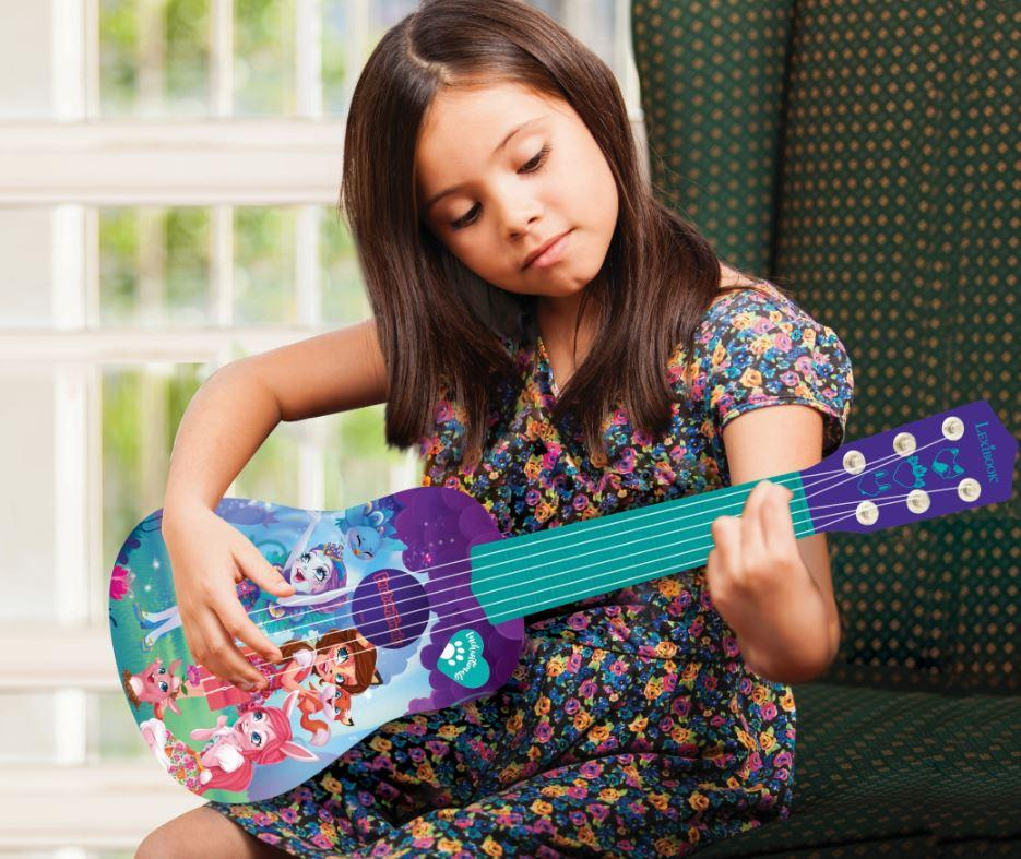 Enchantimals K200EC, Mattel-Guitarra 6 Cuerdas, 53 cm, instrumento ...