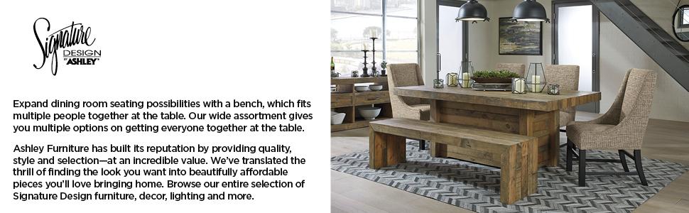 dining bench Ashley furniture chair bar stool