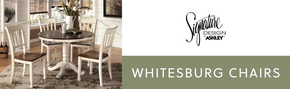dining whitesburg chairs white