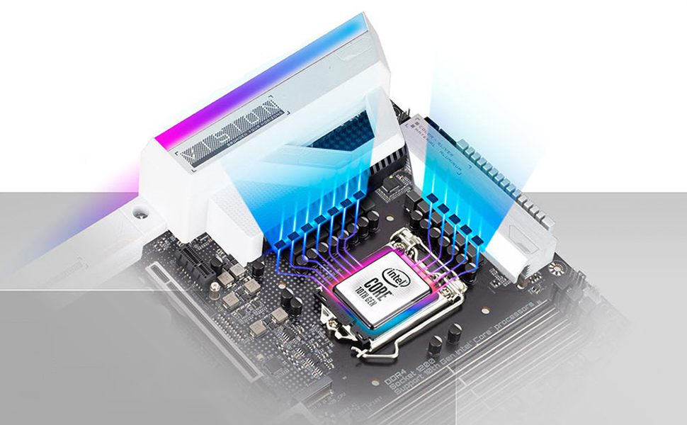 Z490 VISION G, power design, motherboard
