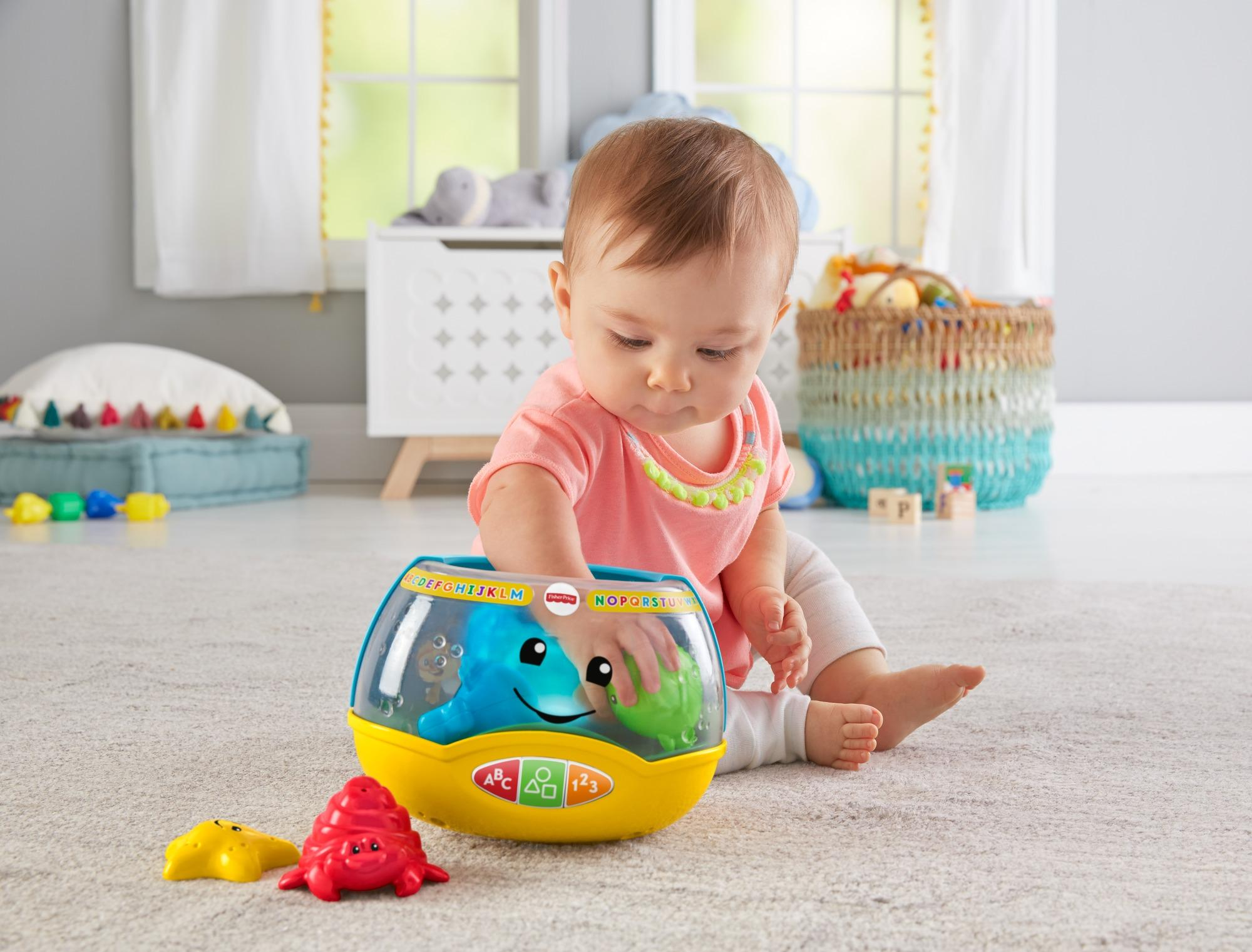 Fisher price laugh learn magical lights fishbowl amazon for Fisher price fish bowl