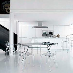 Scab Silla Vanity/Transparente rauchig (Juego de 4 Unidades ...