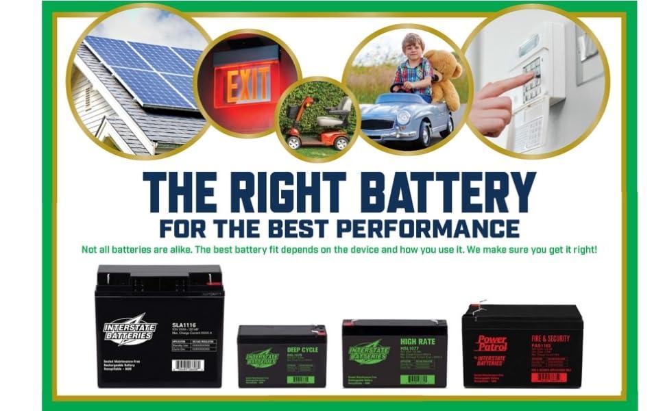 Car Batteries Bestreviews >> Amazon.com: Interstate Batteries 12V 35AH Sealed Lead Acid (SLA) AGM Deep Cycle Battery (DCM0035 ...