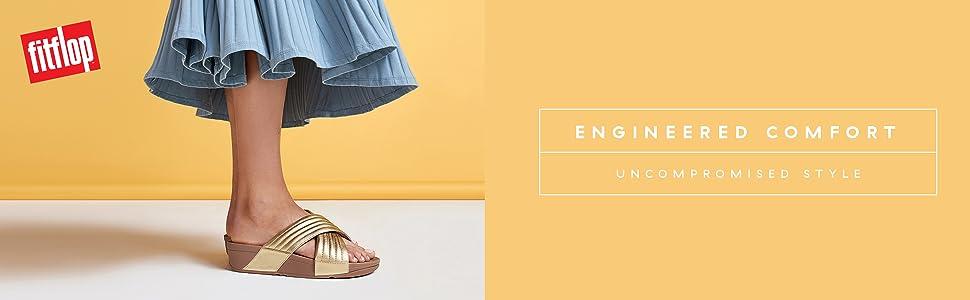 08f2c3037d46 Fitflop Women s Lulu Molten Metal Open Toe Sandals  Amazon.co.uk ...