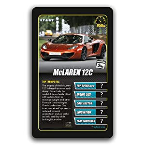 Top Trumps Rules >> Sports Cars Top Trumps Card Game