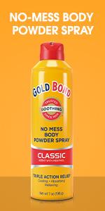 Body powder chafing relief.